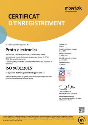 Renovación de la certificación ISO 9001:2015