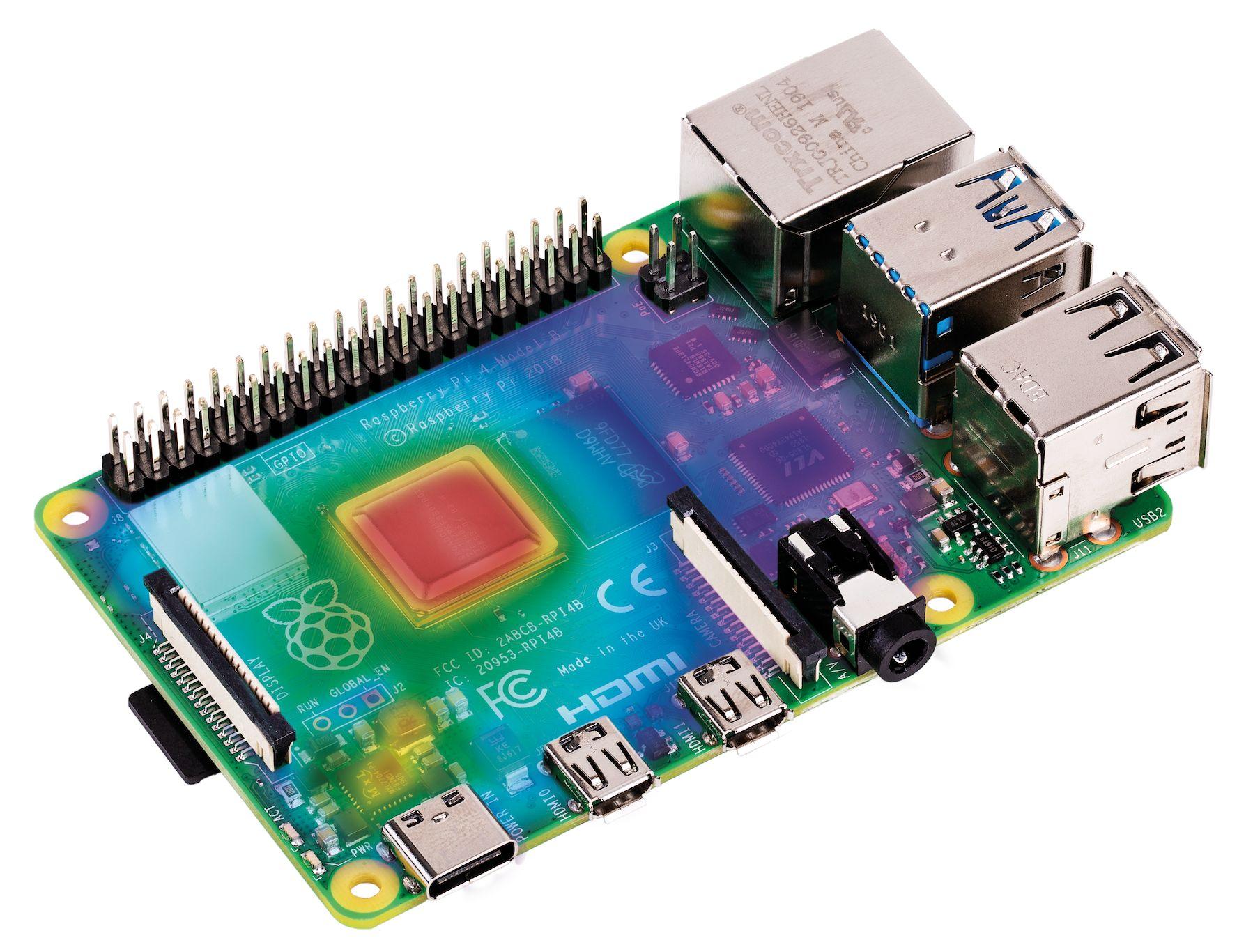 Raspberry Pi 4 thermal analysis.