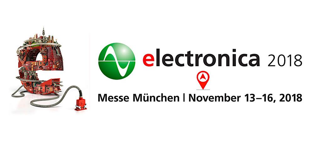 Proto-Electronics sera présent au salon ELECTRONICA 2018!