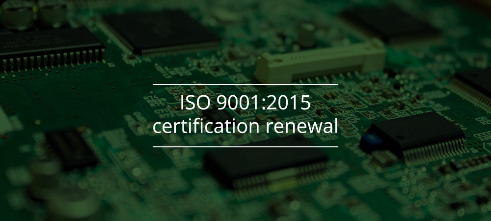 Proto-Electronics: Renewal of its ISO 9001:2015 certification