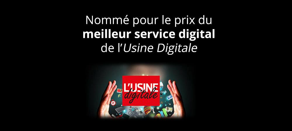 Nommé pour le prix du meilleur service digital 2014